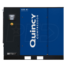 Quincy QGS 40-HP Tankless Rotary Screw Air Compressor w/ Dryer (230/460V 3-Phase)