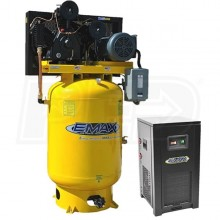 EMAX Industrial Plus 10-HP 120-Gallon Two-Stage Air Compressor w/ Dryer (208/230V 1-Phase)
