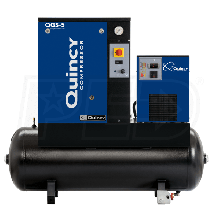 Quincy QGS 5-HP 60-Gallon Rotary Screw Compressor w/ Dryer (208/230/460V 3-Phase)
