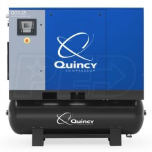 Quincy QGS 25-HP 120-Gallon Rotary Screw Compressor w/ Dryer (208/230/460V 3-Phase)