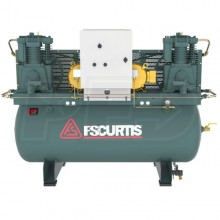 FS-Curtis CA7.5 7.5-HP / 15-HP 120-Gallon UltraPack Two-Stage Duplex Air Compressor (460V 3-Phase)