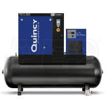 Quincy QGS 20-HP 120-Gallon Rotary Screw Compressor w/ Dryer (208/230/460V 3-Phase)