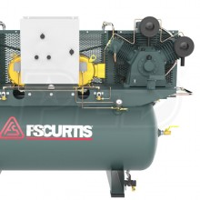 FS-Curtis CA10 10-HP / 20-HP 120-Gallon UltraPack Two-Stage Duplex Air Compressor (460V 3-Phase)