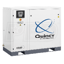 Quincy QOF 15-HP Oil-Free Tankless Scroll Compressor w/ Dryer (230V 3-Phase 116 PSI)