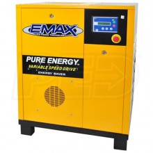 EMAX 20-HP Tankless Rotary Screw Air Compressor with Variable Speed Drive (230V 3-Phase)