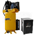 EMAX Silent Industrial Plus 5-HP 80-Gallon Two-Stage Air Compressor w/ Dryer (208/230V 1-Phase)