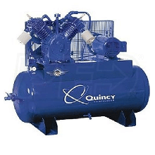 Quincy QP Pro MAX 15-HP 120-Gallon Pressure Lubricated Two-Stage Air Compressor (460V-Phase)
